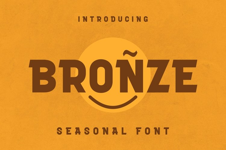 Web Font Bronze Font example image 1
