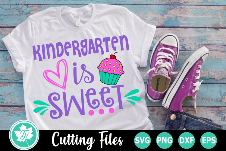 Kindergarten is Sweet - A School SVG Cut File example image 1