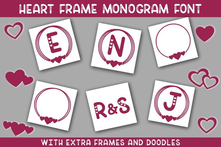 Heart Frame Monogram Font example image 1