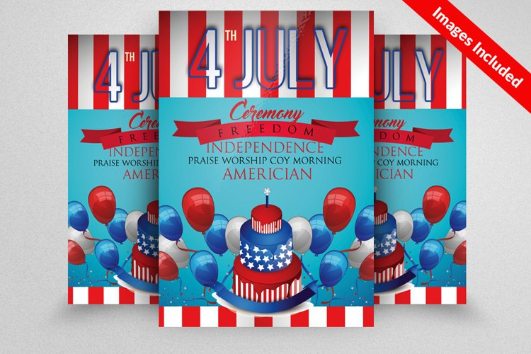 American Flag Day Celebration Flyer example image 1