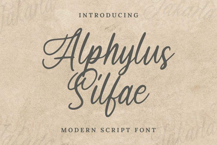 Web Font Arphylus Silfae Font example image 1