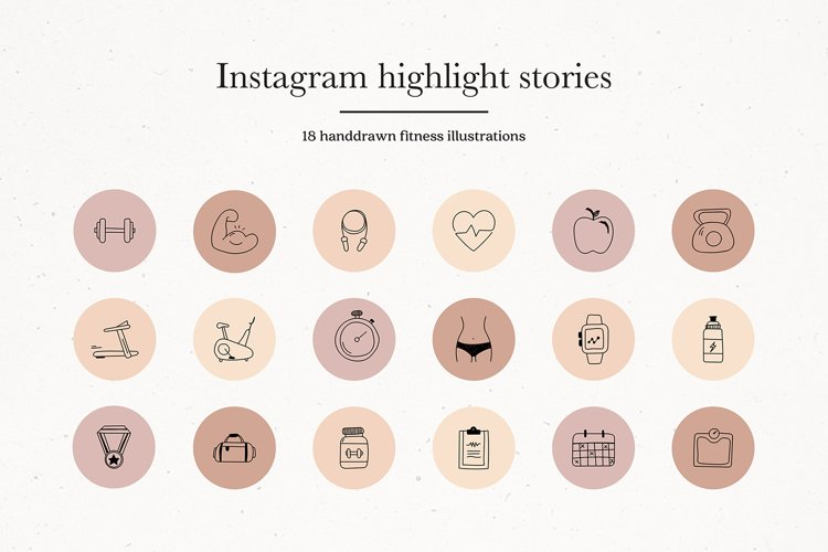 Instagram Fitness Story Highlights Icons Covers example image 1