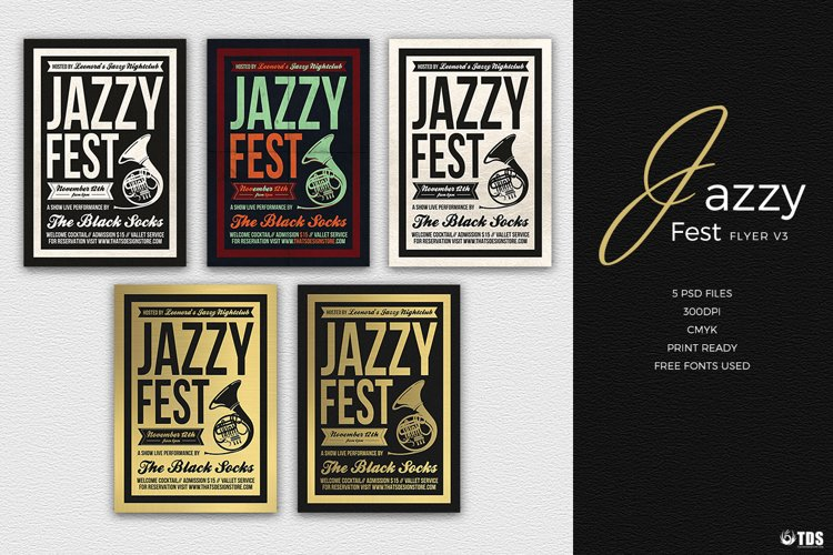 Jazzy Fest Flyer Template V3 example image 1