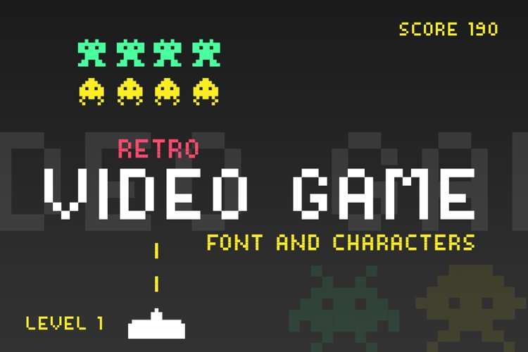Video Game Font example image 1