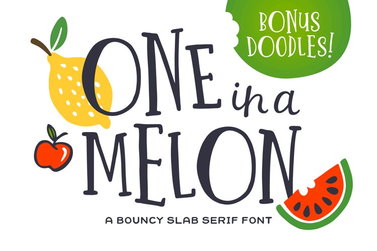 One in a Melon Font Doodles! example image 1
