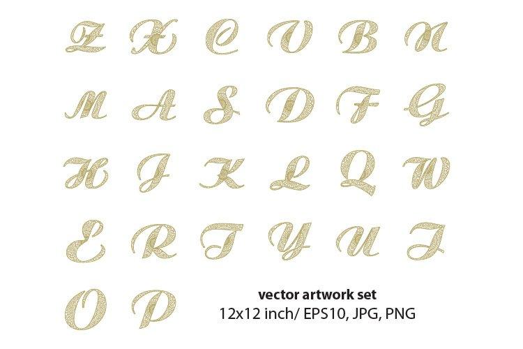 mandala letters - single vector artwork example image 1
