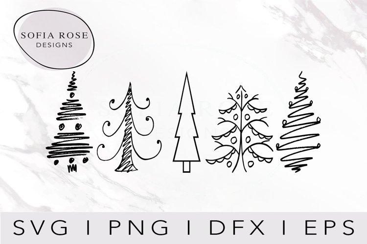 Christmas Trees SVG-Christmas SVG-Holiday SVG-Clip Art example image 1