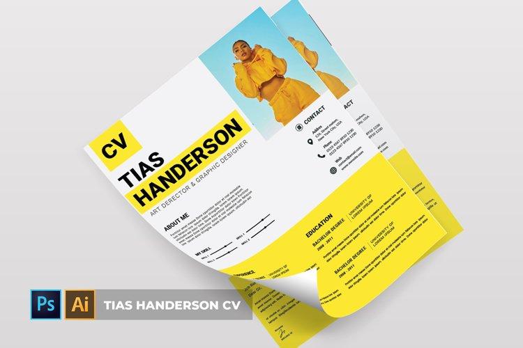 Tias Handerson   CV & Resume example image 1