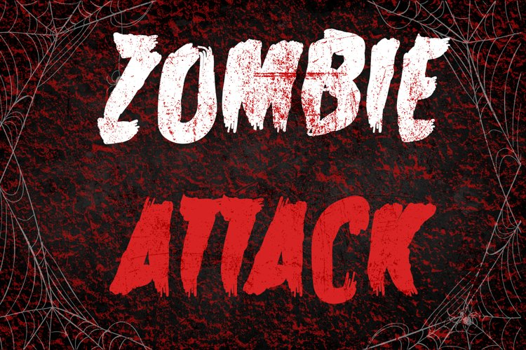 Zombie Attack Halloween Font example image 1
