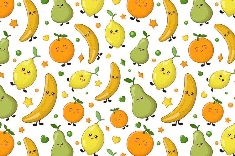 Cute fruit patterns example image 1
