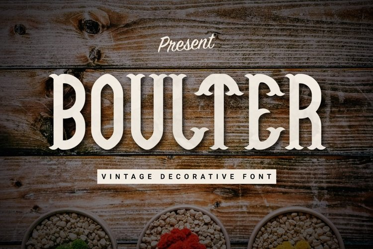 Web Font Boulter example image 1
