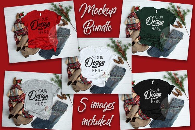 Winter Mockup Bundle Bella Canvas Mockup Bundle T Shirt Flay example image 1