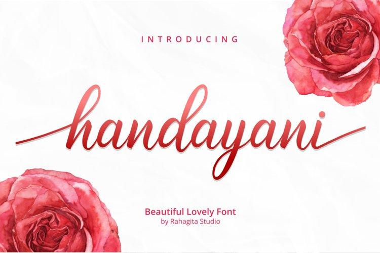 Handayani - Beutiful Script Font example image 1