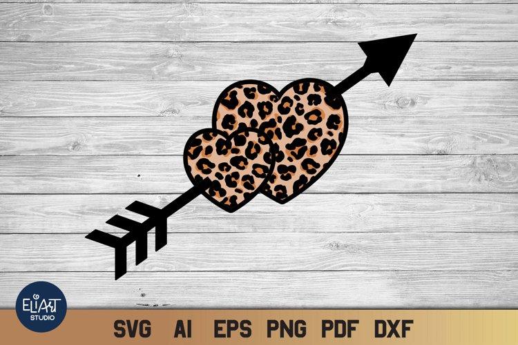 Valentines SVG   Leopard Heart SVG   Cheetah Print Design example image 1