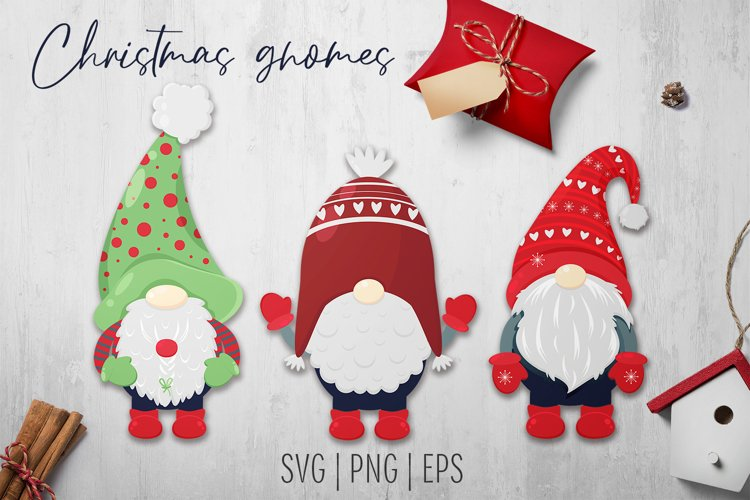 Christmas gnomes SVG. Sublimation Design example image 1