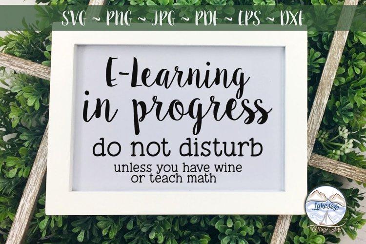 E-Learning in Progress Do Not Disturb SVG