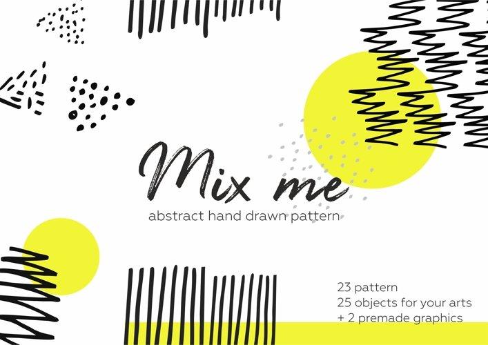 Mix me! Hand drawn patterns set. example image 1