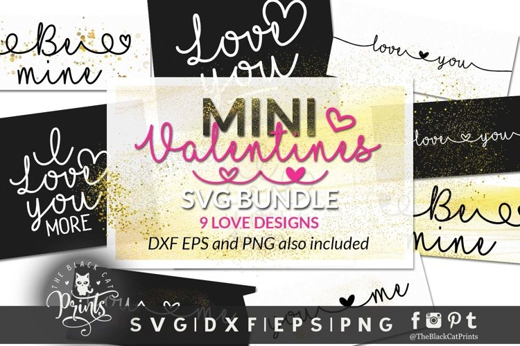 Mini Valentines Bundle SVG | Valentines Day SVG Bundle