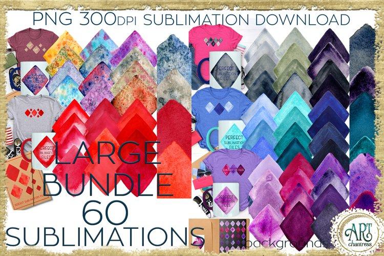 Sublimation Large BUNDLE 2 PNG 60 Watercolours backgrounds