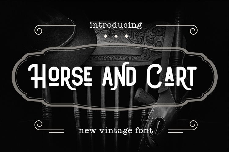 Web Font Horse and Cart example image 1