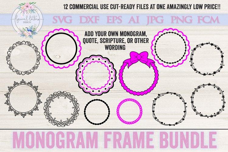 Monogram Frame Bundle of 12 SVG Cut files LL011