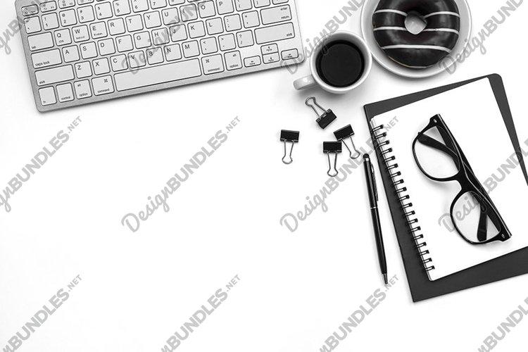 Office Desk Styled Stock Photo, Styled Desktop Mockup