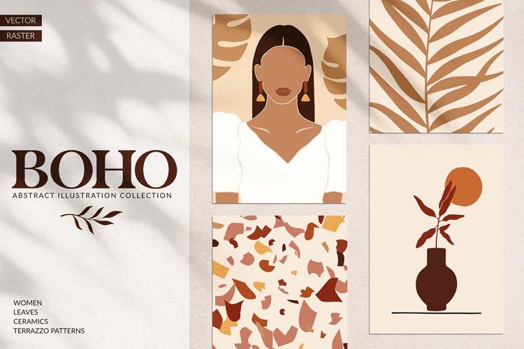 Boho Women & Abstract Art Set example image 1