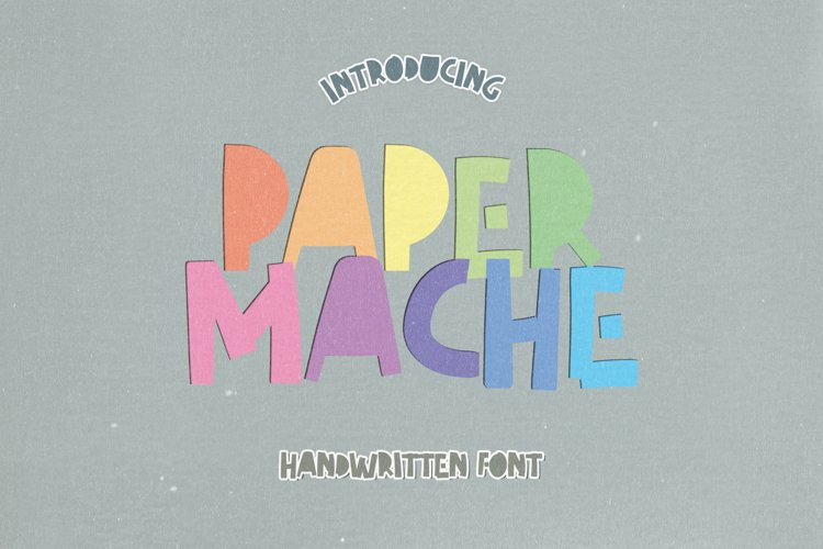 Paper Mache - A Cut-out Handwritten Font example image 1