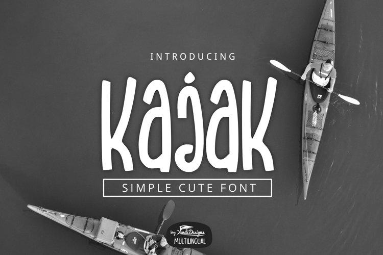 Kajak Font example image 1
