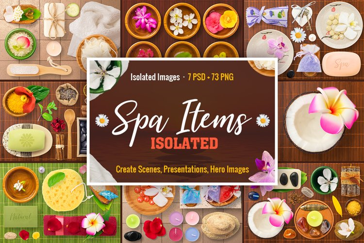 Isolated Spa Items example image 1