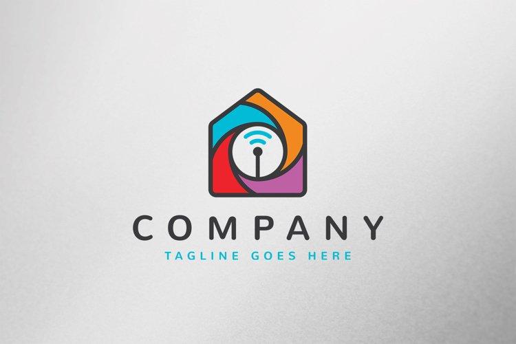 Wifi House Logo Template