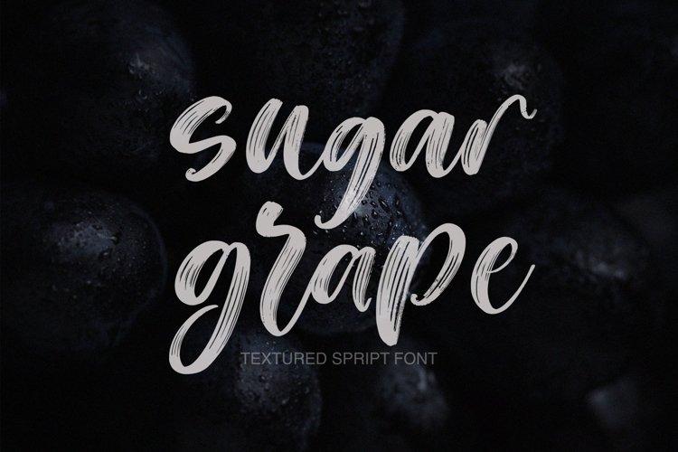 Web Font Sugar Grape Textured Script Font example image 1