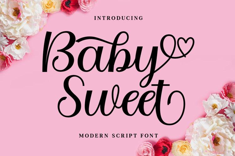 Baby Sweet Script example image 1