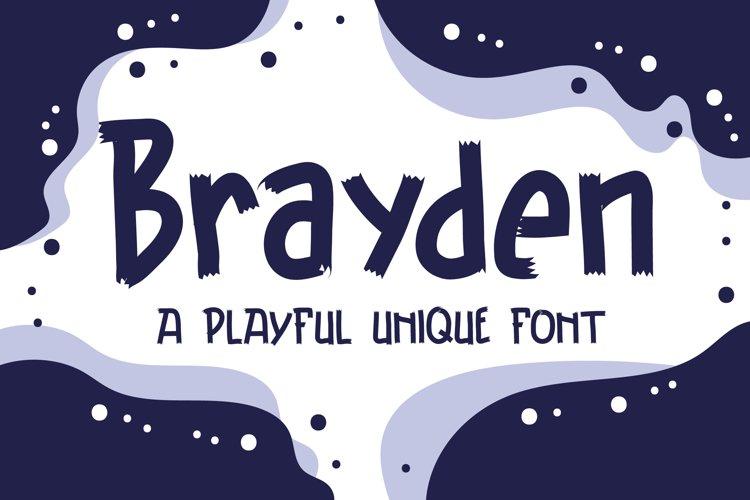 Brayden Typeface - A Playful Unique Font example image 1