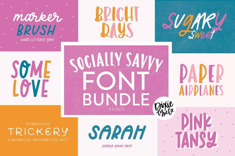 SOCIALLY SAVVY Font Bundle - Dixie Type Co.