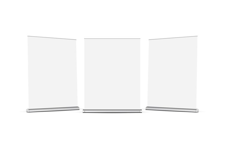 Set of wide roll up banners mockups example image 1