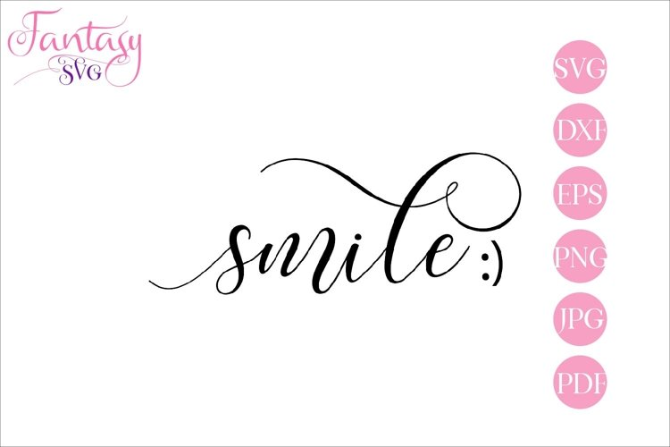 Smile - SVG Cut File