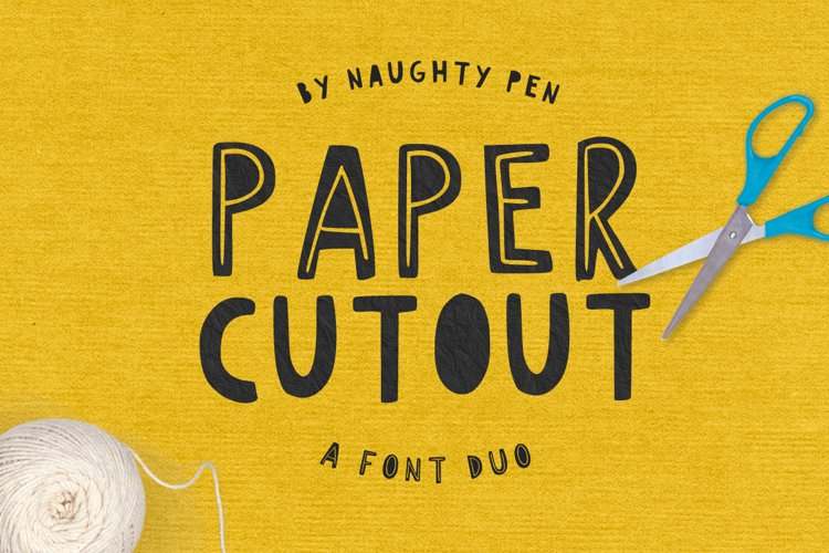 Paper Cutout Font Duo example image 1