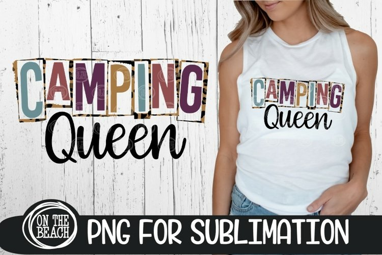 CAMPING QUEEN - PNG LEOPARD SUBLIMATION