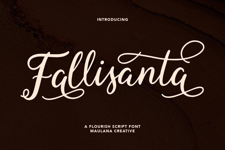 Fallisanta Flourish Font example image 1