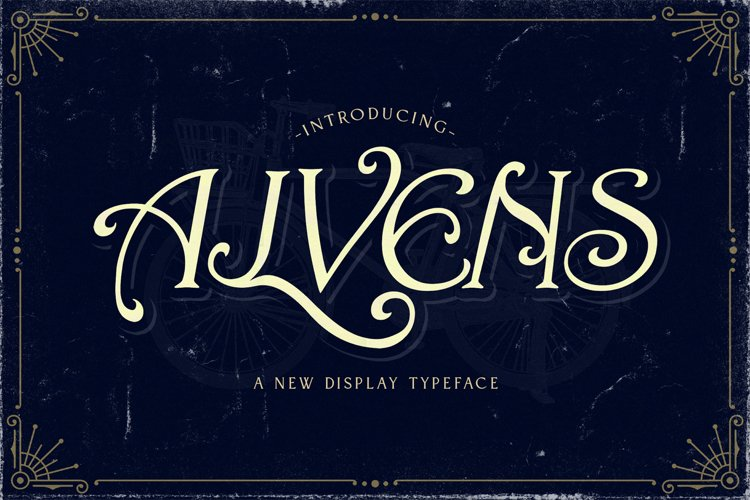 Alvens - Stylish Display Font example image 1