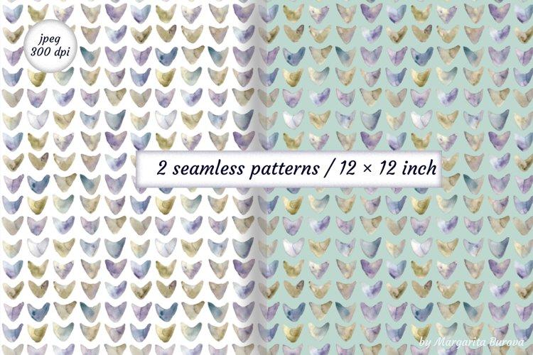 Watercolor geometric pattern. Digital paper.