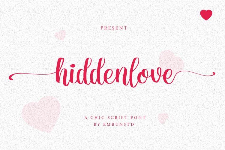 Hidden Love Script Chic font