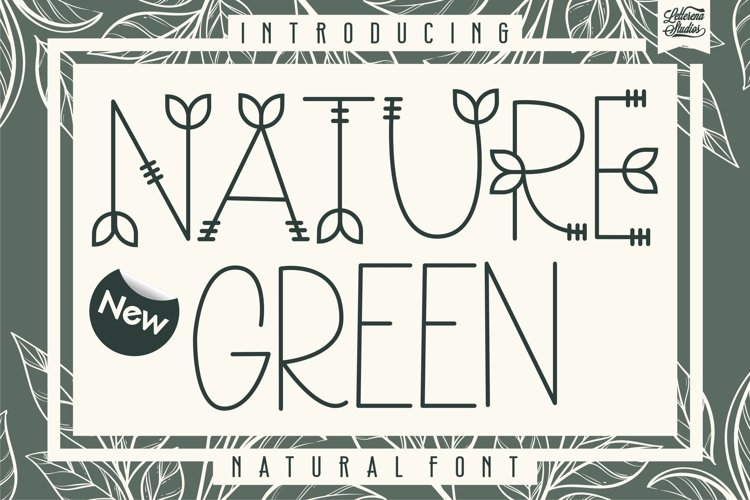 Nature Green - Nature Sans Serif Font example image 1