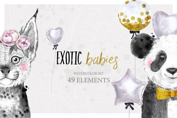 EXOTIC BABIES watercolor set