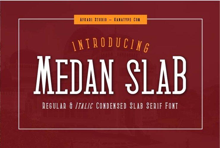 Medan Slab Condensed Slab Serif Font Webfont example image 1