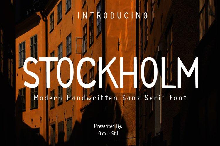 STOCKHOLM Modern Handwritten Sans Serif example image 1