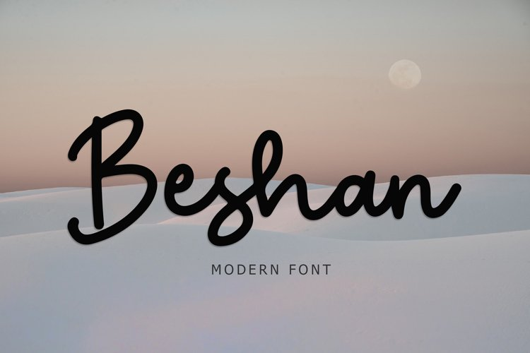 Beshan Modern Font example image 1