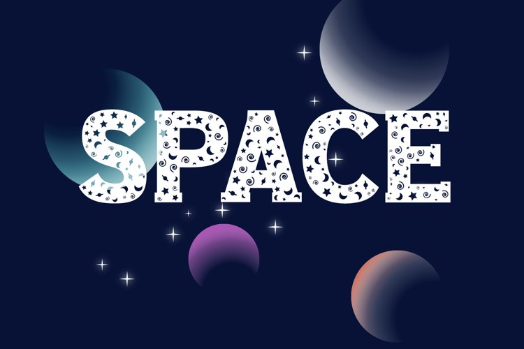 Space Slab Font example image 1