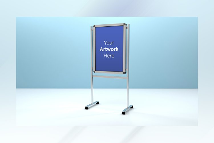 Metal A Stand Advertising Board Mockup example image 1